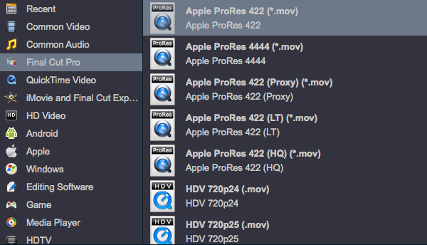 convert HEVC H.265 to FCP X Apple ProRes